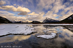 Vermillion Low Light (James Neeley) Tags: winter landscape banff hdr f12 banffnationalpark vermillionlakes 5xp jamesneeley flickr24