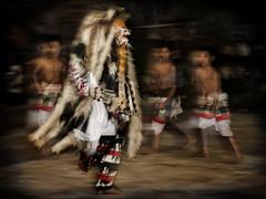 Abangan, Ubud - Kids Performing in the Barong and Kris Dances (Mio Cade) Tags: travel boy bali evening dance kid tour good performance evil battle sword kris stab trance barong rangda toirist abangan magicchildren
