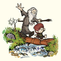 Bilbo and Gandalf (CoolJohnny) Tags: mashup calvin gandalf lordoftherings hobbit calvinandhobbes hobbes bilbobaggins bilbo thehobbit gandalfthegrey calvineharoldo