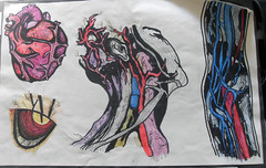 Veins (silverbirch-) Tags: colour eye illustration neck heart arm body veins