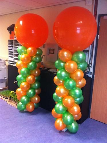 Ballonpilaar Breed Rond Open Dag Het College Vos Vlaardingen