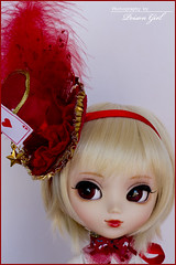 Audrey - Pullip Stica (-Poison Girl-) Tags: pullip pullips stica audrey pullipstica poisongirl poison girl prupate outfit angelicpretty angelic pretty dress red white rewigged new wig hair blonde short fringe bangs eyelashes obitsubody obitsu body bodies pale sbhm doll dolls junplanning groove