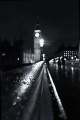 here comes the rain (iainsr) Tags: blackandwhite london westminster rain night bokeh housesofparliament bigben raindrops westminsterbridge
