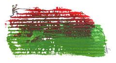 paseando al perro ::: walking the dog (cayagutierrez) Tags: dibujo dibujocontemporáneo drawing creatividad fun divertido divertidos doodle perro dog walk walking pasear paseando hund maze tangle enredado acrylic acrílico watercolor acuarela mixta mixedmedia red rojo green verde pet mascota lost perdido hey perros paper papel wheredidyougo