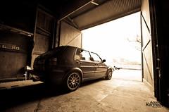 MK2 GTI In The Barn (Adam Kennedy Photography) Tags: vw golf volkswagen low sigma modified mk2 gti 1020mm lowered nath speedline turini unphased bigbumpers adamkennedy oakgreen nikond7000