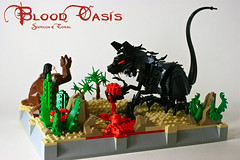 Blood Oasis (Siercon and Coral) Tags: cactus flower mexico blood sand rat desert lego ninja goat oasis sucker chupacabra moc