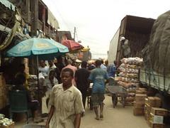 Marketplace Ariara (dotun55) Tags: commerce market trading nigeria aba trucks trade wares ariaria