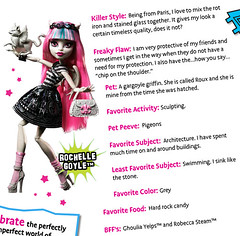 Rochelle bio preview (Veni Vidi Dolli) Tags: dolls mattel monsterhigh rochellegoyle