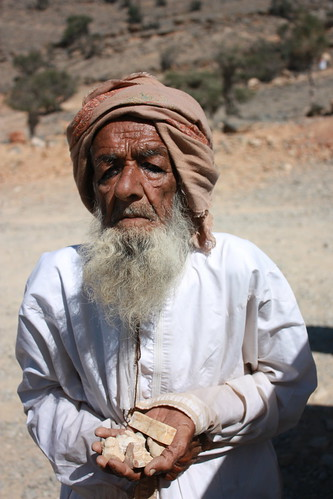 Al Khitaym, old man selling rocks by Arian Zwegers, on Flickr