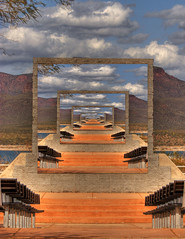 Infinity (photoaz) Tags: arizona orange photoshop colorful infinity creative hdr photomatix rooseveltlake freetransform