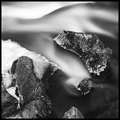 Winter_Movement07 (Katherine Winter Photography) Tags: longexposure movement hasselblad ilford fineartphotography blackandwhitephotography movingwater iceandwater clearcreekcolorado katherinewinterphotography