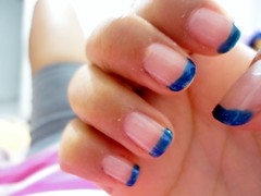 Inglesinha azul (Jubsilva1) Tags: art azul do nail unhas feitas capricho esmalte francesinha decoradas clobe clubedoesmalte