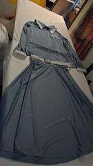 Blue Skirt, Top and Belt (Patterning Hitchin Lives) Tags: blue white lives hitchin patterning