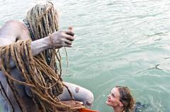 Mermaid (PawelBienkowski) Tags: mermaid baba sadhu mela haridwar kumbhmela sadhus ascetics nagababa