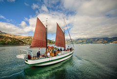 Sailing Away to Akaroa (Stuck in Customs) Tags: new travel cruise family newzealand vacation mountains southwest water beautiful digital river fun photography bay march boat blog high dynamic stuck pacific sails scenic canterbury photoblog zealand valley software processing boating sail southisland imaging recreation range bankspeninsula aotearoa hdr tutorial trey outing travelblog customs 2010 akaroa ratcliff canterburyplains tewaipounamu hdrtutorial stuckincustoms treyratcliff waitaha photographyblog stuckincustomscom nikond3x tewakaamaui longharbor tepatakaorakaihautu