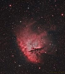 NGC281 Pacman nebula (Mickut) Tags: nebula ngc281 narrowband emissionnebula pacmannebula Astrometrydotnet:status=solved Astrometrydotnet:version=14400 komakallio sxvrh18 Astrometrydotnet:id=alpha20120251247836