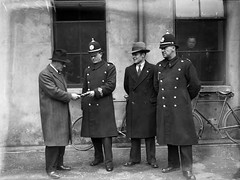 February 20, 1933 (National Library of Ireland on The Commons) Tags: thirties 1930s bicycles pistol courthouse uniforms antiga 20 february monday trial helmets 1933 policemen luger bridewell officialsecretsact plainclothes nationallibraryofireland dutyband independentnewspaperscollection prisonsergeantsoffice