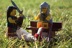 Every Sunday morning they meet up (Paranoid from suffolk) Tags: lego centurian warrior minifigs 2012 minifigures series6