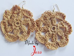 "Crochet Flower Earrings • <a style=""font-size:0.8em;"" href=""http://www.flickr.com/photos/66263733@N06/6913852193/"" target=""_blank"">View on Flickr</a>"