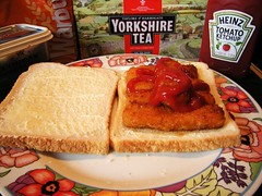 COD FISH FINGERS ANOINTED WITH TOMATO KETCHUP (weasteman) Tags: fish tomato crust bread sauce fingers plate infusion pot butter round loaf pint cod brew teabags heinz mash cuppa breadandbutter heinztomatoketchup redsauce pintpot anointed thicksliced taylorsofharrogate yorkshireteabags lurpakbutter warbys weasteman warburtonsbread warburtonstoastiebread batteredfishfingers codfishfingersanointedwithtomatosauce twoteabags taylorsyorkshiretea lurpaklightspreadable codfishfingers thickslicedbread codfishfingersanointedwithtomatoketchup
