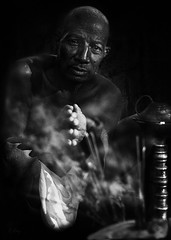 Shaman (Collin Key) Tags: portrait bw india bald ritual shaman ind adivasi chhattisgarh muria bastar mentalpower collinkey gondtribes tribalpeopleofindia