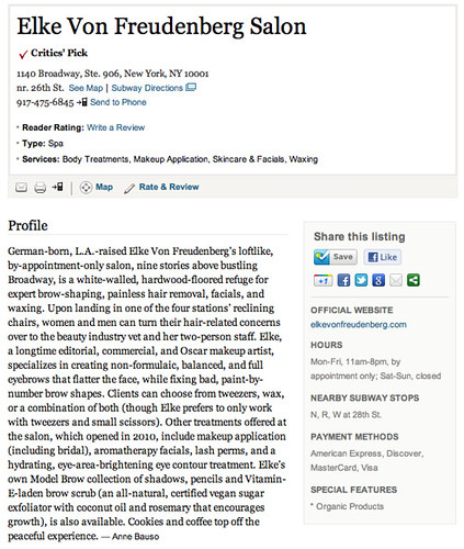"Elke Von Freudenberg Salon   Critic's Choice : NYMag.com • <a style=""font-size:0.8em;"" href=""http://www.flickr.com/photos/13938120@N00/6920703225/"" target=""_blank"">View on Flickr</a>"