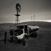Antiquity (~ superboo ~ [busy busy]) Tags: old longexposure rural truck decay windmills hills midway wreck livermore altamont antiquity