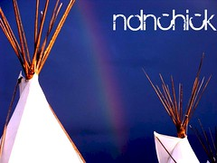 ndnchick rainbow (ndn.chick) Tags: rainbow nativeamerican darksky teepees ndnchick