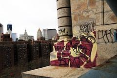 (Into Space!) Tags: nyc newyorkcity bridge ny newyork skyline graffiti photo beef tag tags graff gusto throw gk fill icu diss lewy btm throwie icyou intospace intospaces
