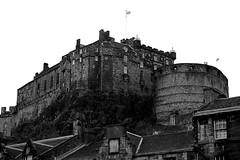 Edinburgh Castle (Alice Horton.) Tags: old city white black building castle architecture big nikon edinburgh bricks d40