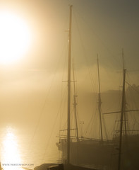 Misty Velcome (mortenprom) Tags: sea sun mist norway misty harbor boat norge ship skandinavien norwegen explore noruega scandinavia 2012 noreg skandinavia canons100 mortenprom