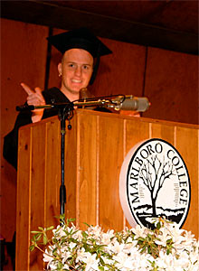 Graduate Ian Garthwait, Who Was by Elected By His Class for the Honor, Delivers the Senior Address.