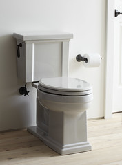 Tresham toilet with oil-rubbed bronze trip lever (KohlerCo) Tags: aab40358csr100985
