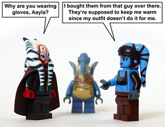 Aayla's Gloves (Oky - Space Ranger) Tags: blue star hands funny lego master gloves jedi wars clone ti watto secura aayla shaak