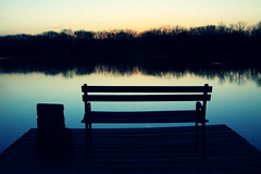 Lonely By The Water (matthileo) Tags: light sunset lake water vintage bench evening seat southlakesunsets