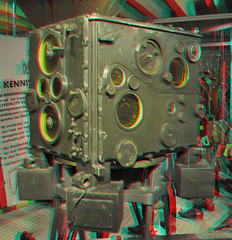 Anti Aircraft Artillery 3D (wim hoppenbrouwers) Tags: 3d anaglyph delft stereo antiaircraft legermuseum armymuseum redcyan