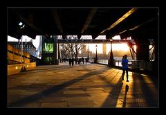 Sunset run along the Thames (moi_images) Tags: sunset run running jog jogging river thames london bridge