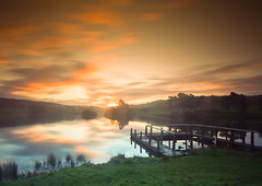 Blinded by the Light (PeterYoung1) Tags: clouds sunrise scotland colours scenic lightrays knappsloch
