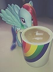 Sonic Rainboom coffee!~ (BlackKat *OLD*) Tags: cup coffee is rainbow friendship little magic pony dash fim mug epic mlp flickrandroidapp:filter=none