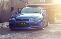 Nissan Skyline GTR34 V-Spec X (Ben Birch Photography) Tags: blue japan skyline scott photography nissan ben wheels fast birch gt carbon rims lowered jdm r34 gtt johnstons vspec rb26 gtr34