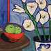 Honorable Mention: Amy Guglielmo, Red-Bowl/Lillies