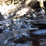 "Cairns in Riverbed <a style=""margin-left:10px; font-size:0.8em;"" href=""http://www.flickr.com/photos/14315427@N00/6989099081/"" target=""_blank"">@flickr</a>"