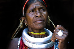 INDIA (BoazImages) Tags: portrait woman india face asian asia faces indian culture documentary tribal ornaments tradition tribe orissa gadaba traditioanl boazimages