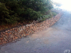 WM Jeff Fairfield, 3, Retaining wall, dry laid stone construction, copyright 2014