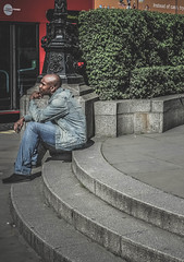 Lost in thought... (Tasdik) Tags: london streetphotography fujifilm colourstreetphotography