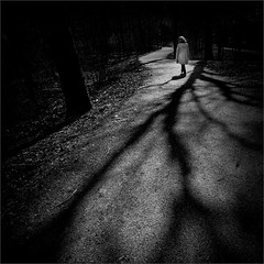 A Walk Among the Shadows (Olli Keklinen) Tags: bw woman photoshop suomi finland dark square helsinki nikon scenery path walk d800 malmi 2016 ok6 ollik work4079 20160503