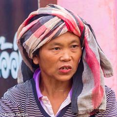 Hill tribe woman (HellonEarth2006) Tags: woman thailand chiangmai hilltribe headgear chiangdao
