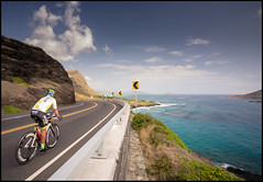 EpicOahu-159 (crosscolin) Tags: blue water bike bicycle hawaii angle oahu 5 five sony wide ironman polarizer triathlon epic makapuu strobes a7ii epic5