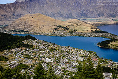 Queenstown from High Up (HariKish) Tags: newzealand lake mountains water town scenery aerialview nz queenstown hdr bobspeak