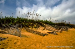 Sea Oats and Sand Fences (T i s d a l e) Tags: summer beach dunes september outerbanks seaoats easternnc tisdale southernshores 2015 sandfences seaoatsandsandfences